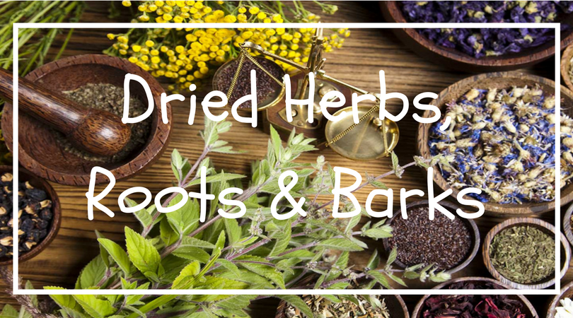 Dried Herbs, Roots & Barks